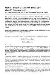 Rapporto Ocse su istruzione e università - Uil