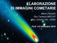 ELABORAZIONE DI IMMAGINI COMETARIE - Gruppo Astronomia ...