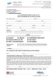 Domanda per patenti speciali o limitate