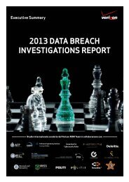 2013 Data Breach InvestIgatIons report executive summary