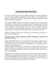 Farmaci Inibitori della Pompa Protonica La malattia da reflusso ...