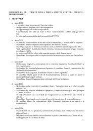 Tracce prove scritte di cultura tecnico professionale - Esercito Italiano