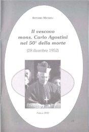 Il vescovo mons. Carlo Agostini nel 50° della morte