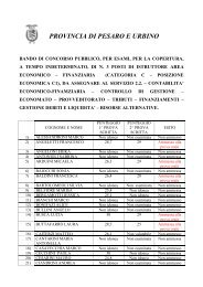 n.3 posti istruttore ec-finanziaria ammessi prova orale - Provincia di ...