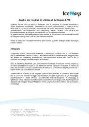 [ITA] Analisi dei risultati di utilizzo di Antispam LIVE - IceWarp