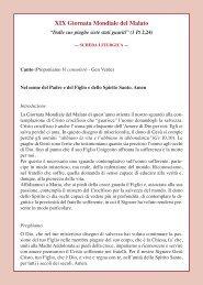 Scheda liturgica - Arcidiocesi di Messina