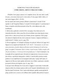 Articolo completo - L'Opera di Padre Pio
