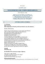XXXI DOMENICA DEL TEMPO ORDINARIO (C) - Undicesima Ora