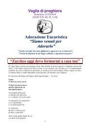 Veglia di preghiera Domenica 31/10/2010 - Istituto San Luigi
