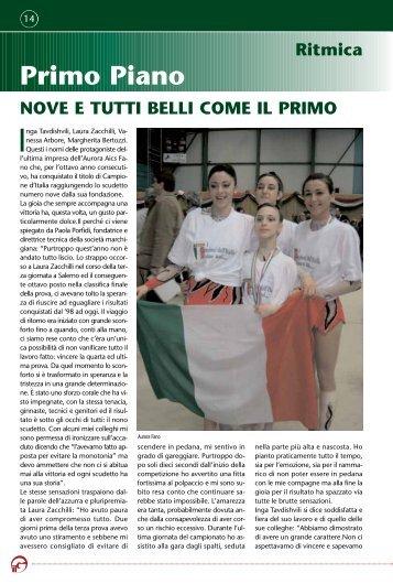 Primo Piano Ritmica - Federazione Ginnastica d'Italia