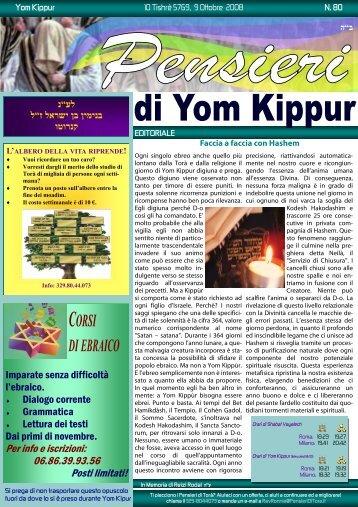 80-Yom Kippur - Pensieri di Torà