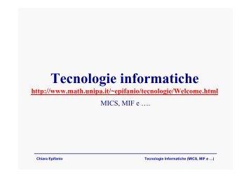 Lezione hardware - Dipartimento di Matematica e Informatica