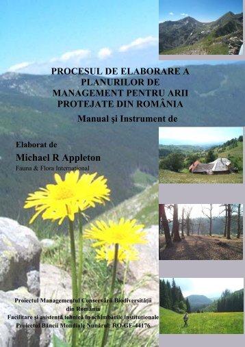 Procesul de elaborare a planurilor de management pentru