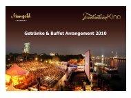 Mangold Getränke & Buffet Arrangement Frankenheim Kino 2010
