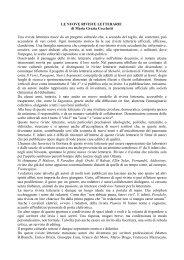 LE NUOVE RIVISTE LETTERARIE di Maria Grazia ... - CIRCE