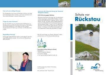 Schutz vor Rückstau - Gemeinde Weingarten (Baden)