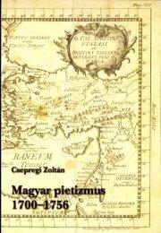 Magyar pietizmus 1700-1756. Tanulmány és forrásgyűjtemény a ...