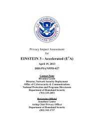 EINSTEIN 3 Accelerated - Homeland Security