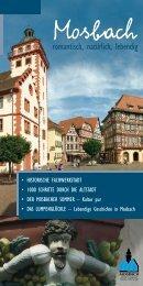 mosbach – mehr als 1100 Jahre lebendige geschichte