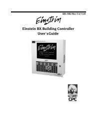 026-1602 Einstein BX Building Controller - Emerson Climate ...