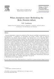 Rethinking the Bohr–Einstein debate - Radboud Universiteit
