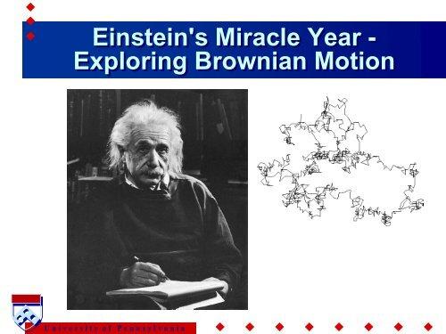 Einstein's Miracle Year - Exploring Brownian Motion Einstein's ...