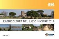 L'Agricoltura nel Lazio in cifre 2011 INEA Bruxelles