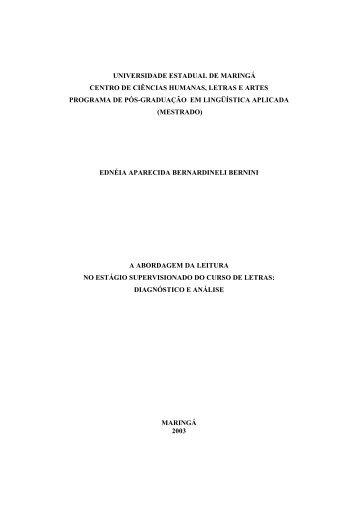 dissertação completa - Programa de Pós-Graduação em Letras - Uem