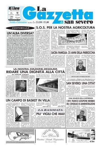 23 gennaio 2010 - La Gazzetta di San Severo