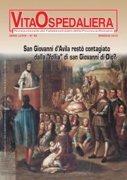 Rivista Vita Ospedaliera - Provincia Romana Fatebenefratelli