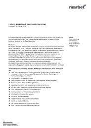 Leitung Marketing & Kommunikation (m/w)