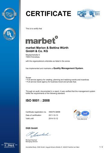 CERTIFICATE - marbet creative services