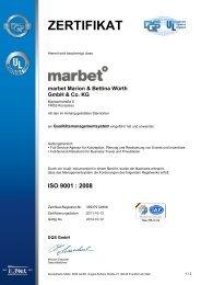 ZERTIFIKAT - marbet creative services