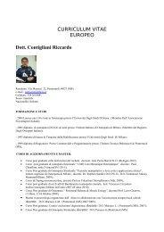 curriculum - Riccardo Contigliani