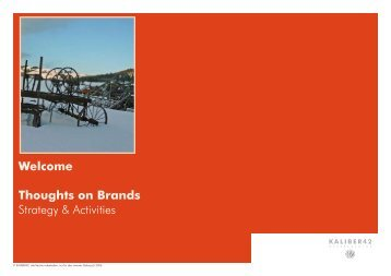 Mono-Brand Strategy - Kaliber42