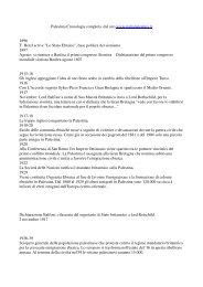 Palestina Cronologia dal 1896 - Homolaicus