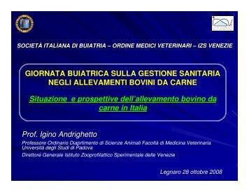 Prof. Igino Andrighetto - Società Italiana di Buiatria
