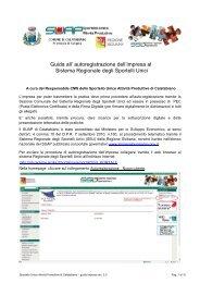 Guida registrazione suap ssu rev 2 - Comune di Calatabiano