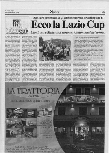 Ciociaria Oggi del - Torneo Lazio Cup