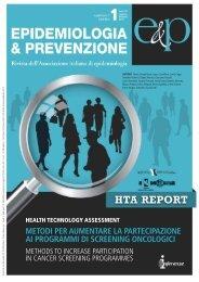 Health Technology Assessment - Epidemiologia & Prevenzione