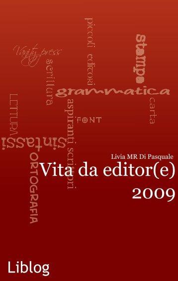 Vita da editor(e) - Liblog
