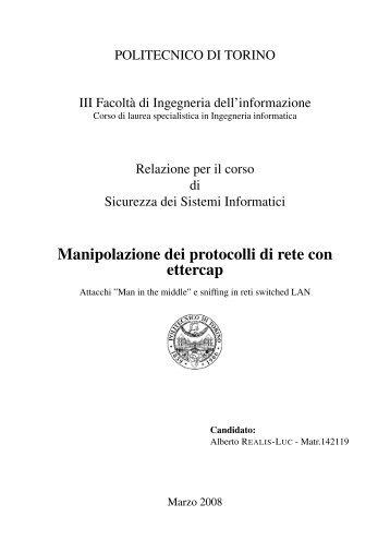 Manipolazione dei protocolli di rete con ettercap - Alus.it