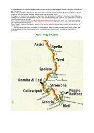 Assisi – Poggio Bustone - Di qui passò Francesco