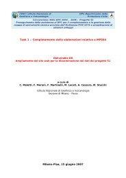 Progetto S1 INGV-DPC - Deliverable D8 - Dati online della ...