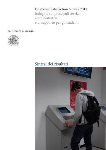 Sintesi dei risultati - Politecnico di Milano