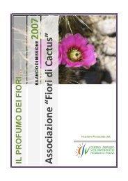 Bilancio di missione 2007 - Associazione ONLUS Fiori di Cactus