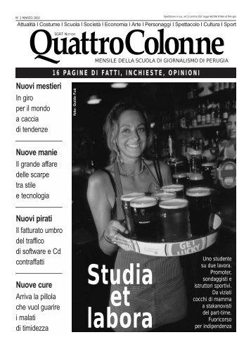 Quattro Colonne numero 2 (Marzo 2002) - Scuola di Giornalismo ...