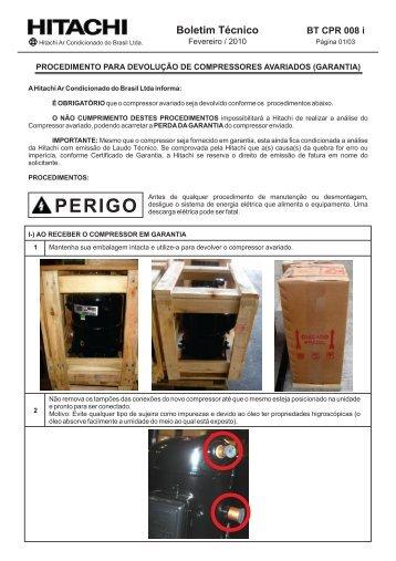 PROC DEVOLUÇÃO DE CPR.cdr - Hitachi Ar Condicionado do Brasil