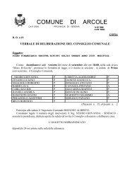 Piano Finanziario Tariffa Rifiuti Solidi Urbani ... - Comune di Arcole