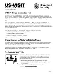O US-VISIT, A Biometria E Você - Homeland Security